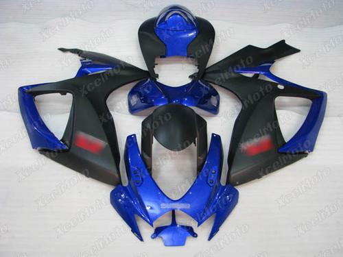 2006 2007 Suzuki GSXR600 GSXR750 blue and black fairing