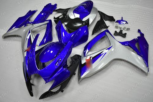 2006 2007 Suzuki GSXR600 GSXR750 blue and silver fairing