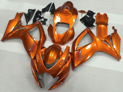 2006 2007 Suzuki GSXR600 GSXR750 orange fairing kit