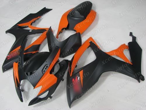 2006 2007 Suzuki GSXR600 GSXR750 matte orange and matte black fairing
