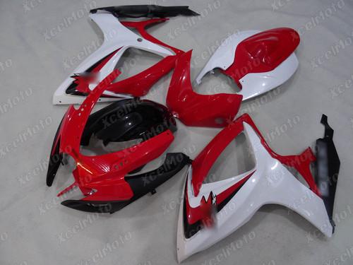 2006 2007 Suzuki GSXR600 GSXR750 red white and black fairing