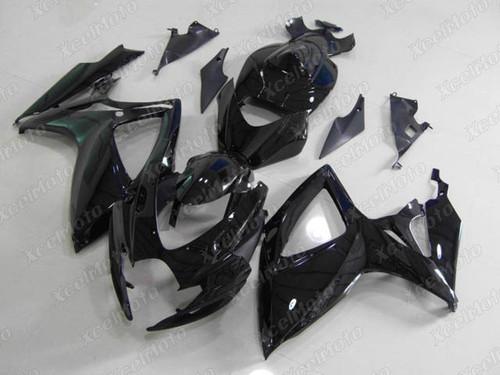 2006 2007 Suzuki GSXR600 GSXR750 gloss black fairing