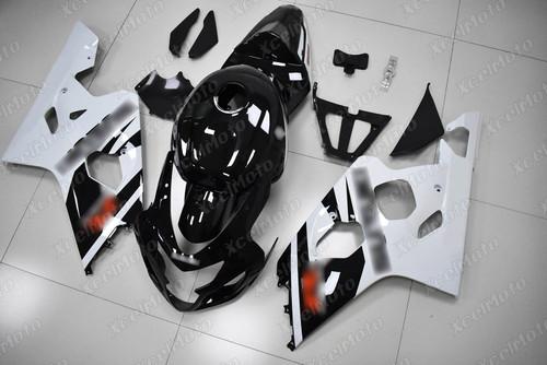 2004 2005 Suzuki GSX-R600 GSX-R750 white and black fairing