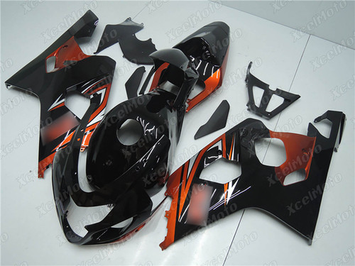 2004 2005 Suzuki GSX-R600 GSX-R750 black and orange fairing
