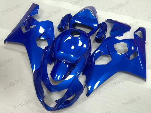 2004 2005 Suzuki GSXR600/750 blue fairings and body kits, Suzuki GSXR600/750 OEM replacement fairings and bodywork.