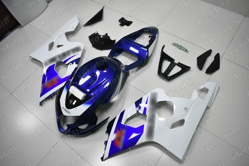 2004 2005 Suzuki GSX-R600 GSX-R750 blue and white fairing