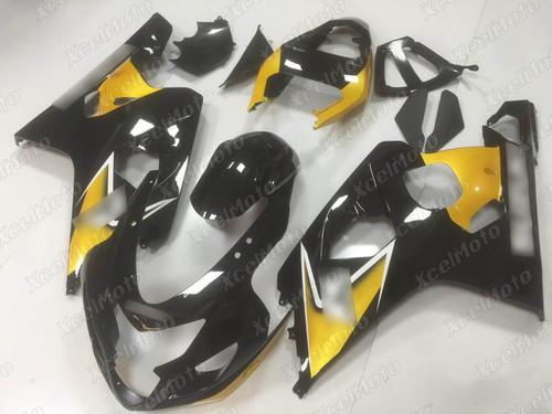 2004 2005 Suzuki GSX-R600 GSX-R750 black and yellow fairing