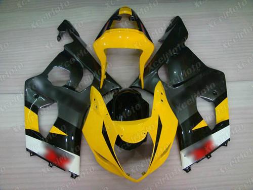 2004 2005 Suzuki GSX-R600 GSX-R750 yellow and grey fairing