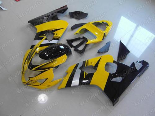 2004 2005 Suzuki GSX-R600 GSX-R750 yellow and black fairing