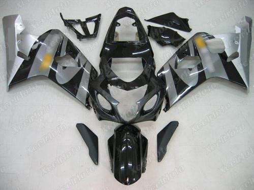 2004 2005 Suzuki GSX-R600 GSX-R750 black and grey fairing
