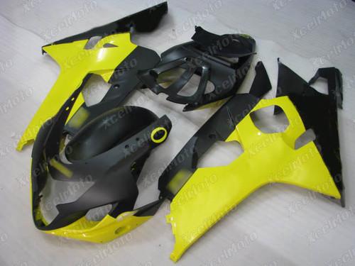 2004 2005 Suzuki GSX-R600 GSX-R750 yellow and black fairing kit