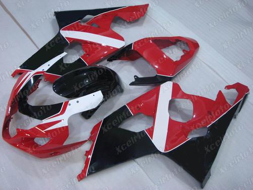 2004 2005 Suzuki GSX-R600 GSX-R750 custom red white and black fairing