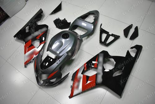 2004 2005 Suzuki GSX-R600 GSX-R750 grey red and black fairing