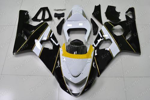 2004 2005 Suzuki GSX-R600 GSX-R750 white and black fairing kit.
