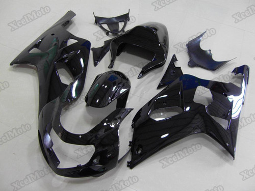 2001 2002 2003 Suzuki GSXR600/750 gloss black fairings and body kits, Suzuki GSXR600/750 OEM replacement fairings and bodywork.