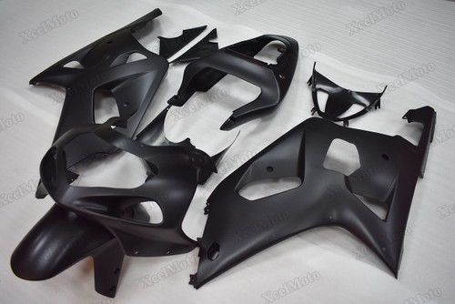 2001 2002 2003 Suzuki GSXR600/750 matte black fairings and body kits, Suzuki GSXR600/750 OEM replacement fairings and bodywork.