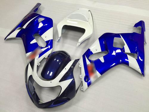 2001 to 2003 Suzuki GSX-R600, 2000 to 2003 Suzuki GSX-R750 blue and white fairing