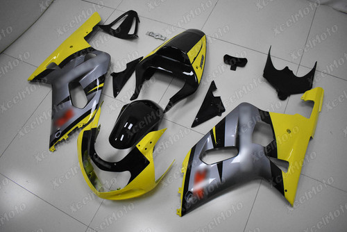 2001 to 2003 Suzuki GSX-R600, 2000 to 2003 Suzuki GSX-R750 yellow and grey fairing