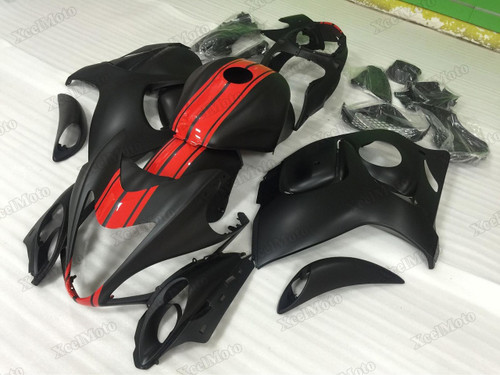 Suzuki GSX1300R Hayabusa matte black fairings and body kits, Suzuki Suzuki GSX1300R Hayabusa OEM replacement fairings and bodywork.