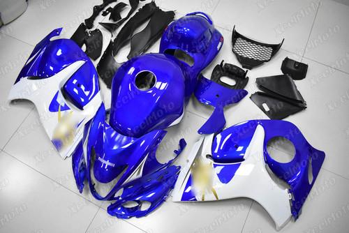 Suzuki Hayabusa GSX1300R OEM fairing blue and white scheme