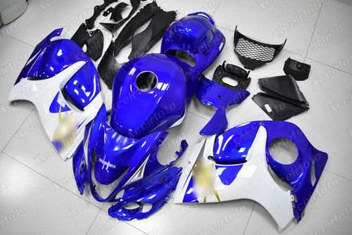 Suzuki Hayabusa GSX1300R OEM fairing blue and white scheme