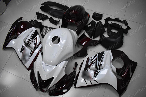 Suzuki Hayabusa GSX1300R dark red and pearl white fairing