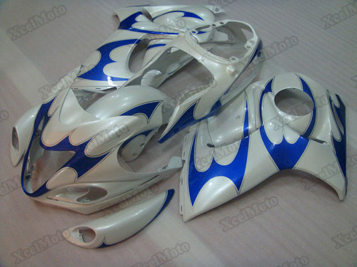 Suzuki GSX1300R Hayabusa blue and white fairings and body kits, Suzuki Suzuki GSX1300R Hayabusa OEM replacement fairings and bodywork.