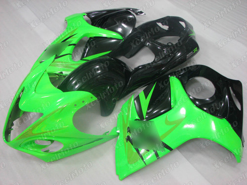 Suzuki Hayabusa GSX1300R green and black fairing