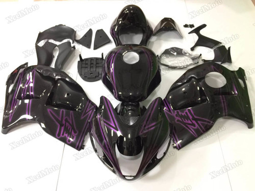 Suzuki GSX1300R Hayabusa gloss black fairings and body kits, Suzuki Suzuki GSX1300R Hayabusa OEM replacement fairings and bodywork.
