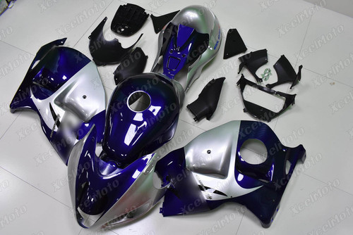 Suzuki Hayabusa GSXR1300 aftermarket fairing blue and silver