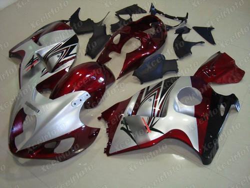 Suzuki GSX1300R Hayabusa silver and red fairings and body kits, Suzuki Suzuki GSX1300R Hayabusa OEM replacement fairings and bodywork.