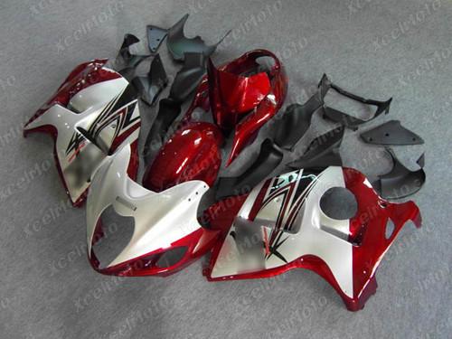 Suzuki GSX1300R Hayabusa white and red fairings and body kits, Suzuki Suzuki GSX1300R Hayabusa OEM replacement fairings and bodywork.