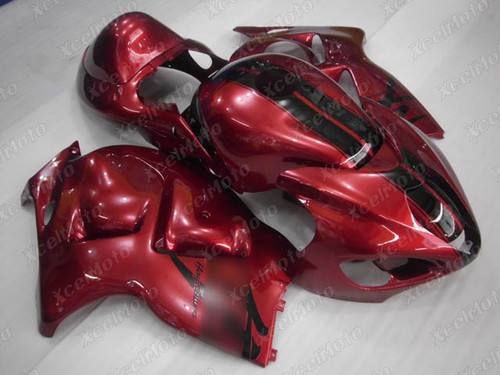 Suzuki GSX1300R Hayabusa red fairings and body kits, Suzuki Suzuki GSX1300R Hayabusa OEM replacement fairings and bodywork.