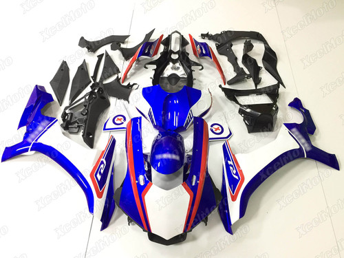 2015 2016 2017 2018 2019 YAMAHA R1 white and blue fairing and bodywork