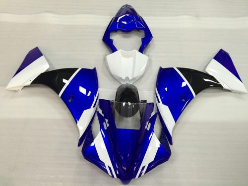 2012 2013 2014 Yamaha R1 blue, white and black fairings