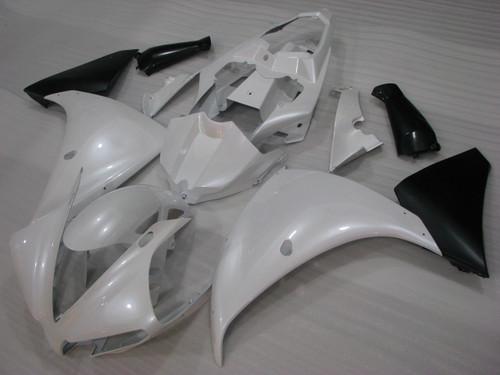 2012 2013 2014 Yamaha R1 pearl white and matte black fairings