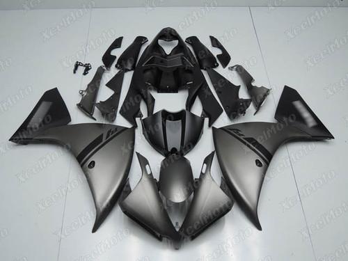 2012 2013 2014 YAMAHA R1 gunmetal matte grey fairing.