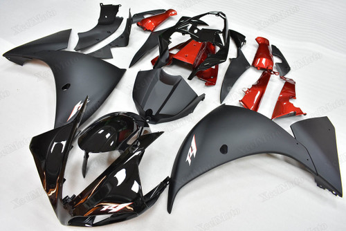2009 2010 2011 Yamaha R1 black fairings