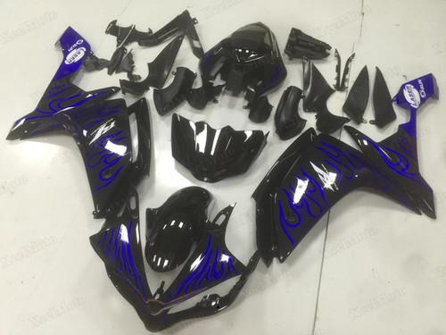2007 2008 Yamaha R1 blue ghost flame fairings