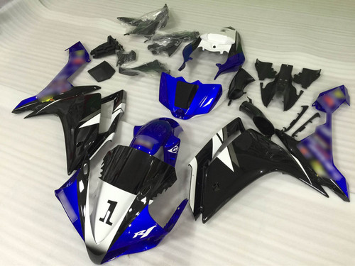 2007 2008 YAMAHA R1 blue and black fairing