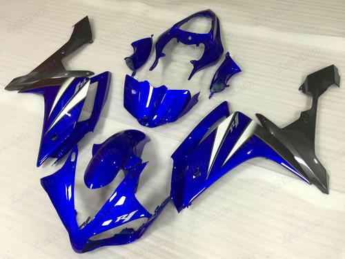 2007 2008 Yamaha R1 blue and grey fairings and bodywork