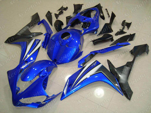 2007 2008 YAMAHA R1 blue and grey fairing and bodywork