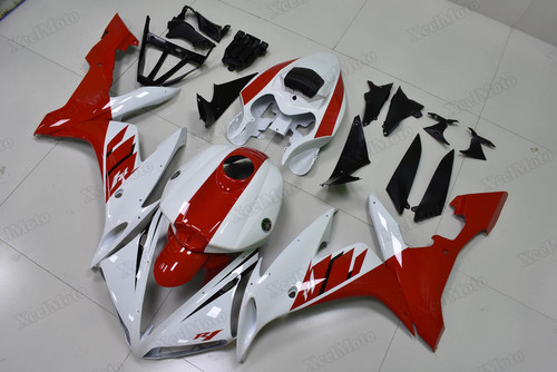 2004 2005 2006 Yamaha R1 red and white OEM color fairings