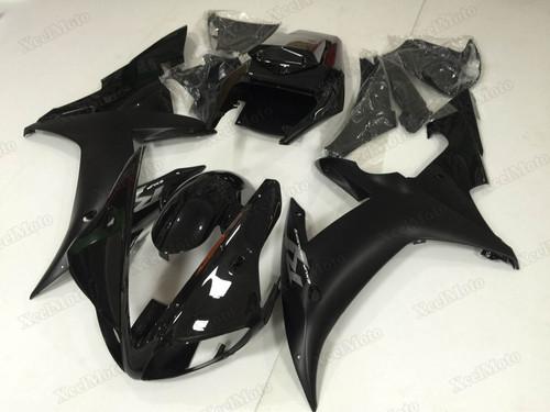 2002 2003 Yamaha R1 black fairings and body kits, Suzuki 2002 2003 Yamaha R1 OEM replacement fairings and bodywork.