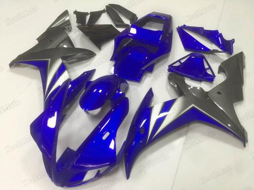2002 2003 Yamaha R1 blue and grey fairings