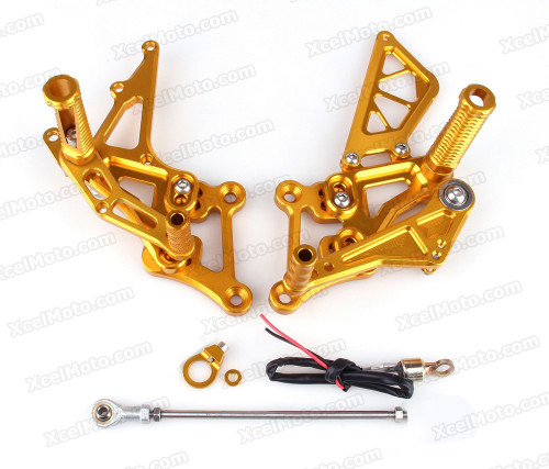 Motorcycle rear sets assembly for Honda CBR250RR 2010 2011 2012 are design to improve the ground clearance, crash worthiness and overall good looks of your bike