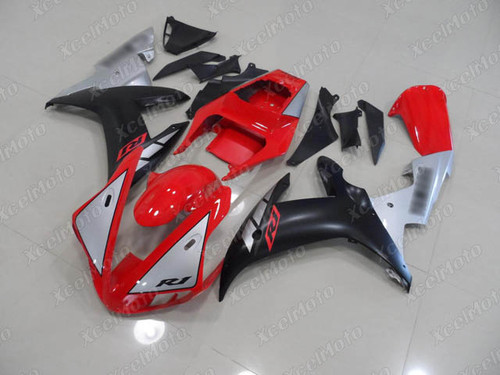 2002 2003 YAMAHA R1 red silver and black fairing