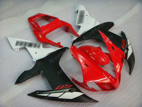 2002 2003 YAMAHA R1 red white and black fairing and bodywork