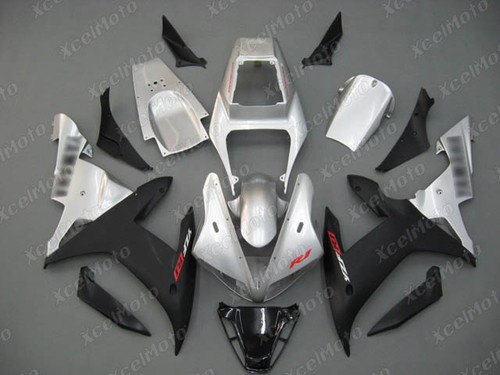 2002 2003 YAMAHA R1 silver and black fairing and bodywork