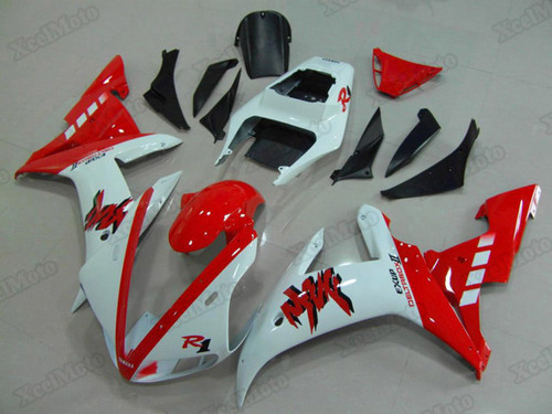 2002 2003 Yamaha R1 white and red fairings and body kits, Suzuki 2002 2003 Yamaha R1 OEM replacement fairings and bodywork.